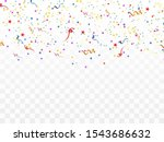 colorful confetti and balls... | Shutterstock .eps vector #1543686632