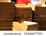 Stacked Brown Cardboard...