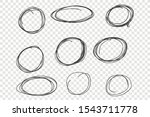 round chaotic scribble frames... | Shutterstock .eps vector #1543711778