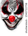 Mask Of A Creepy Clown Isolated ...