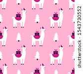 Christmas Seamless Pattern With ...