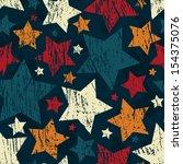grunge star seamless pattern | Shutterstock .eps vector #154375076