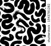 monochrome organic shapes.... | Shutterstock .eps vector #1543781282