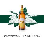 wheat beer ads  realistic... | Shutterstock .eps vector #1543787762