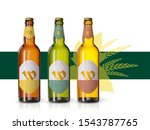 wheat beer ads  realistic... | Shutterstock .eps vector #1543787765