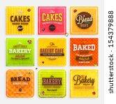 set of retro bakery labels ...