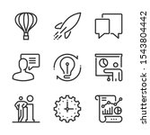 start up  bold line icons. the...   Shutterstock .eps vector #1543804442
