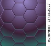 dark purple hexagonal pattern ... | Shutterstock . vector #1543815722