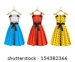 fashion dresses on hanger | Shutterstock . vector #154382366