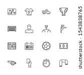 soccer  sport  football outline ... | Shutterstock .eps vector #1543838765