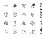 sport games  ball outline icons ... | Shutterstock .eps vector #1543838768