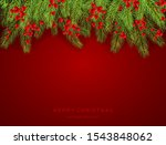holiday decorations with fir... | Shutterstock .eps vector #1543848062