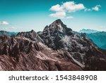Beautiful Hochvogel Mountain in the Alps, Germany - stock photo