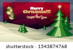 merry christmas and happy new... | Shutterstock . vector #1543874768