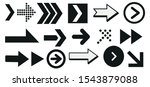 set of black vector arrows.... | Shutterstock .eps vector #1543879088