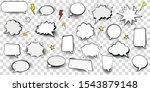 big set of cartoon comic speech ...   Shutterstock .eps vector #1543879148