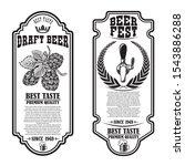 set of beer flyers with hop...   Shutterstock .eps vector #1543886288