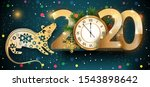 happy new year 2020. year of... | Shutterstock .eps vector #1543898642