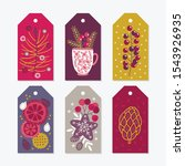 christmas gift tags with berry  ... | Shutterstock .eps vector #1543926935