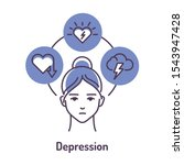depression color line icon on... | Shutterstock .eps vector #1543947428