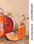 Autumn Pumpkins Oil Painting....