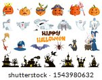 characters selection. halloween ... | Shutterstock .eps vector #1543980632