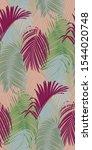 trendy seamless luxury tropical ... | Shutterstock .eps vector #1544020748