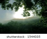 misty scene just before dawn of ... | Shutterstock . vector #1544035