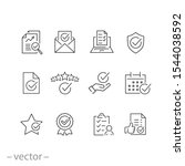 checkmark icons set  confirm... | Shutterstock .eps vector #1544038592
