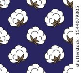 cotton seamless doodle pattern  ... | Shutterstock .eps vector #1544079305