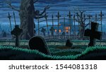 seamless background with scary... | Shutterstock .eps vector #1544081318