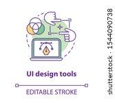 ui design tools concept icon....