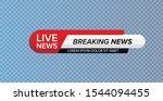 tv news bar. lower third tv...   Shutterstock .eps vector #1544094455