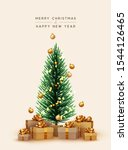 merry christmas and happy new... | Shutterstock .eps vector #1544126465