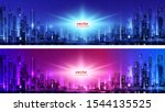 night city illustration with... | Shutterstock .eps vector #1544135525