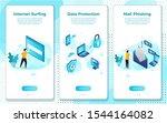 vector mobile illustration set  ... | Shutterstock .eps vector #1544164082