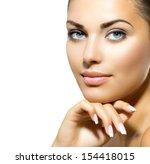 beauty portrait. beautiful spa... | Shutterstock . vector #154418015