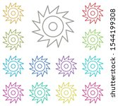 saw  blade multi color icon....