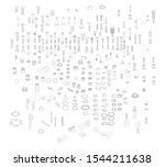 nuts  bolts   screws collection ... | Shutterstock .eps vector #1544211638
