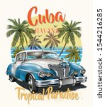 Cuba Typography For T Shirt...