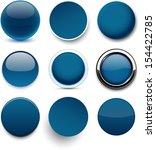 set of blank dark blue round... | Shutterstock .eps vector #154422785