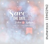 save the date for personal... | Shutterstock .eps vector #154422962