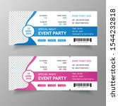 event ticket template  music ...   Shutterstock .eps vector #1544232818