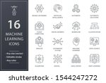 machine learning icons. set of... | Shutterstock .eps vector #1544247272