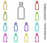 bottle multi color icon. simple ...