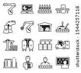 industrial process icons. line... | Shutterstock .eps vector #1544257118