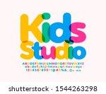 vector bright logo kids studio. ...   Shutterstock .eps vector #1544263298