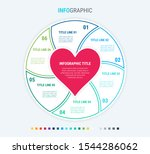 infographic love template. 6... | Shutterstock .eps vector #1544286062