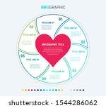 infographic love template. 6... | Shutterstock .eps vector #1544286062