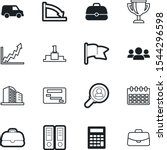 company vector icon set such as ...